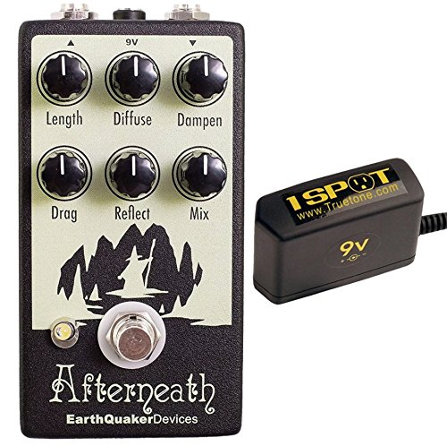 Earthquaker Devices Afterneath Otherworldly Reverberation Machine v2 and Truetone 1 Spot Space Saving 9v Adapter