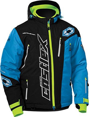 Castle X Rival Back Country Mens Snowmobile Jacket - Black/Process Blue (2XL)