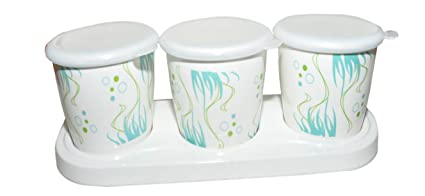 Buy Air Tight Melamine Storage Container Jar set of 3 with 1