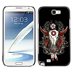 Stuss Case Hard Protective Case Cover for Samsung Galaxy Note 2 N7100 - Cool Western Buffalo Skull Dreamcatcher