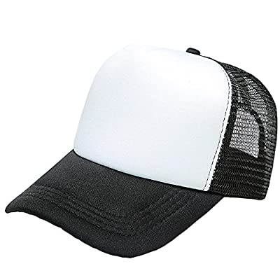 Small-Mark Two Tone Trucker Hat Summer Mesh Cap with Adjustable Strap Baseball Hat