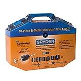 Spyder 600805 Bi-Metal Rapid Core Eject Electricians Hole Saw Kit, 10-Piece
