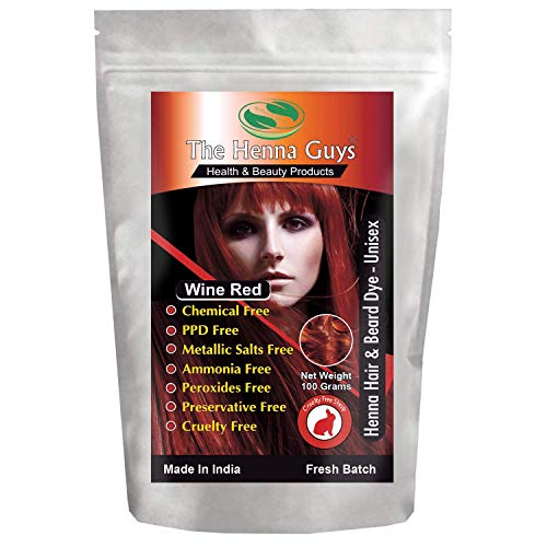 Wine Red Henna Hair & Beard Dye/Color - 1 Pack - The Henna Guys