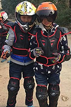 WINGOFFLY Kids Chest Spine Protector Body Armor Vest Protective Gear for Dirt Bike Motocross Snowboarding Skiing Red M