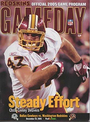 GAMEDAY Magazine, Official Game Program, Redskins Edition, Dallas Cowboys vs Washington Redskins, December 18, 2005, FedEx Field, Landover MD