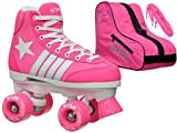 Epic Skates Epic Star Carina Pink High-Top Quad Roller Skates Package Kids Pink/White 5
