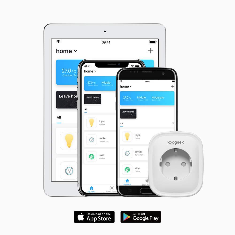 Smart Plug Koogeek Intelligente Steckdose Alexa Wifi Steckdose (2 Packs)