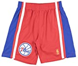 Mitchell and Ness 76ers 96-97 Swingman Mens Basketball Shorts in Red