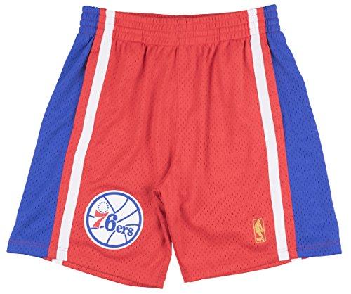 (Mitchell & Ness Philadelphia 76ers Red Swingman Shorts (X-Large))