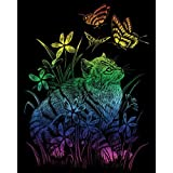 Royal Brush Rainbow Foil Engraving Art Kit, 8-Inch by 10-Inch, Kitten and Butterflies by ROYAL BRUSH