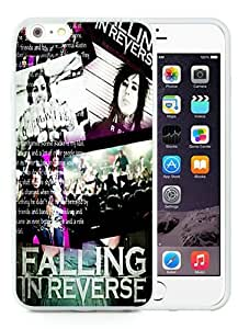 Hot Sale iPhone 6 Plus Screen Cover Case With falling in reverse White iPhone 6 Plus 5.5 Inch TPU Case Unique And Beautiful Designed Phone Case