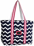 Equine Couture Women's Abby Tote Bag, EC Navy/Hot Pink, Standard For Sale