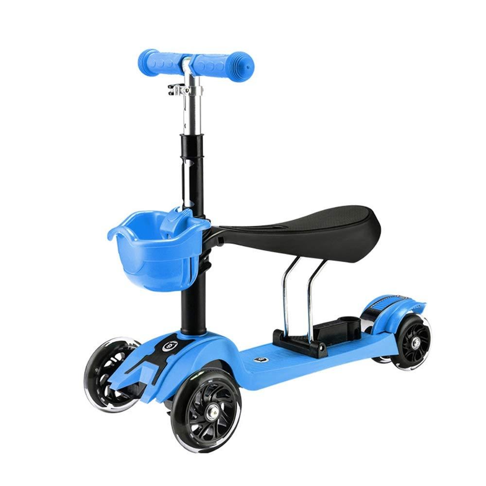 Runplayer 子供のフラッシュ三輪スクーター Blue、子供の幼児スクーターに適しています ( Color : Blue ) Color Runplayer B07R27ZBC4, 開田村:5680410b --- gateridge.com