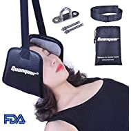 Neck Relief Hammock Cervical Traction and Relaxation, The Original Portable Cervical Traction and Stretcher Device for Chronic Neck and Shoulder Pain Relief, FDA Approved