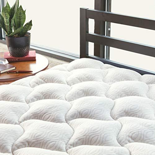 ViscoSoft Copper Mattress Pad Queen | Extra Plush Pillowtop Mattress Topper for Pain Relief