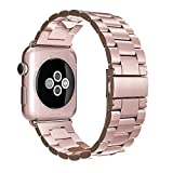 Simpeak Apple Watch Correa, Correa Apple Watch 38mm Series 3/2 / 1 Band de Acero Inoxidable Reemplazo de Banda de la Muñeca Metal Corchete Apple Watch Todos los Modelos
