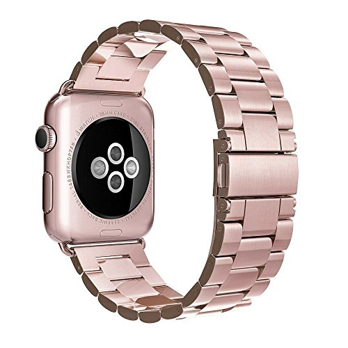 Simpeak Correa Compatible para Apple Watch, Correa para Apple Watch 38mm Series 3/2 /1 40mm Series 4 band de Acero Inoxidable...