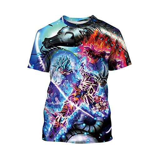 Dragon Ball Z T-Shirts Boys Girls Kids 3D Print Cartoon DBZ Tops Tees]()
