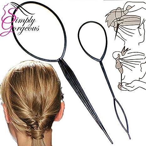 Simply Gorgeous 2 Stück Twist Loop Pferdeschwanz Hersteller Haar Flechten Das Werkzeug Amazon De Beauty