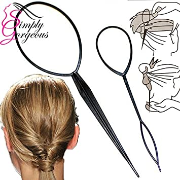 Simply Gorgeous 2 Piece Twist Loop Ponytail Maker Hair Braid Styling Tool