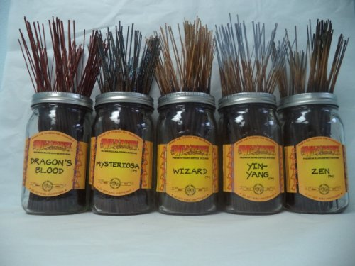 (Wildberry Incense Sticks Earthy Scents Set #3: 20 Sticks Each of 5 Scents, Total 100 Sticks!)