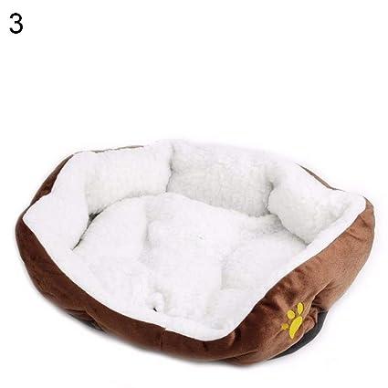 iodvfs Pet Suministros Cachorro Perro Gato cálido Cama Suave cojín Nido Mat Alfombrilla Interior