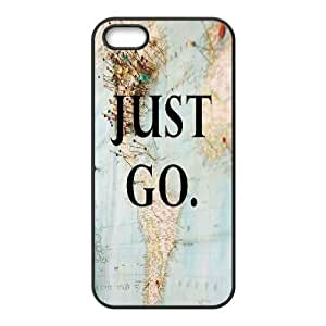 Kweet Just go to Travel IPhone 5,5S Case, {Black}