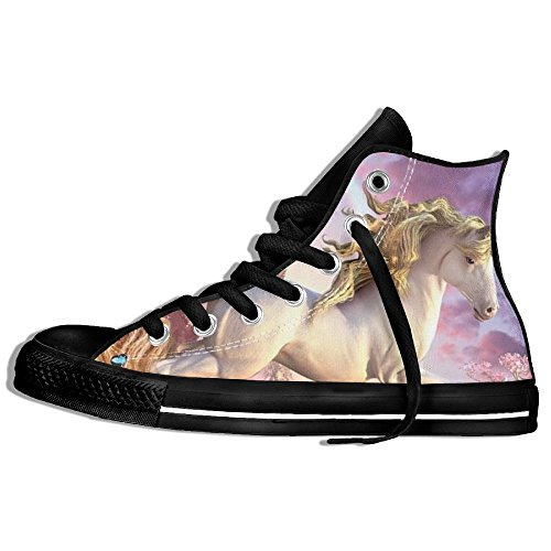 FAIRY Classic Lace Up High Top Canvas Shoes Fairy Unocorn Sneaker For Men Women