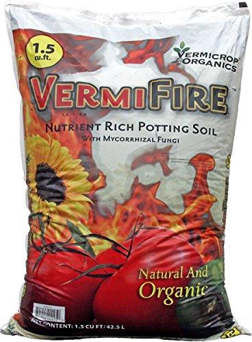 - Vermicrop VCFIRE VermiFire Nutrient Rich Potting Soil, 1.5cf