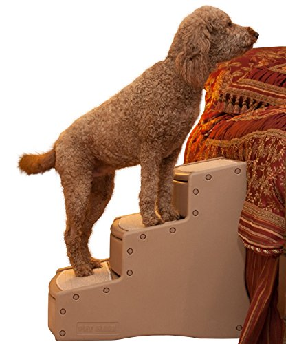 Stairs Three Step Pet (Pet Gear Easy Step III Extra Wide Pet Stairs, 3-step/for cats and dogs up to 200-pounds, Tan)