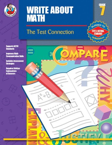 Write About Math, Grade 7: The Test Connection PDF