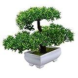 Artificial Bonsai Plant Fake Resin Pine Pinus Green Tree Office Home Decors