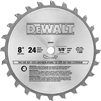 Dewalt dw7670 8 inch 24 tooth stacked dado set table saw dewalt dw7670 8 inch 24 tooth stacked dado set greentooth Images