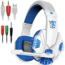 PLEXTONE Gaming Headset Mic LED Light Ordenador portátil, PS4, DLAND Cable DE 3,