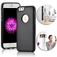 Anti-Gravity Case for iPhone 5 5S SE,Vandot Slim Fit Hands Free Nano-suction Technology Selfie Phone Case Cover Magical Nano Sticky Can Stick to Glass, Tile, Car GPS, Most Smooth Surface -Black