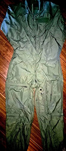USGI Military USAF Men Nomex Sage Green Flight Suit 36 R