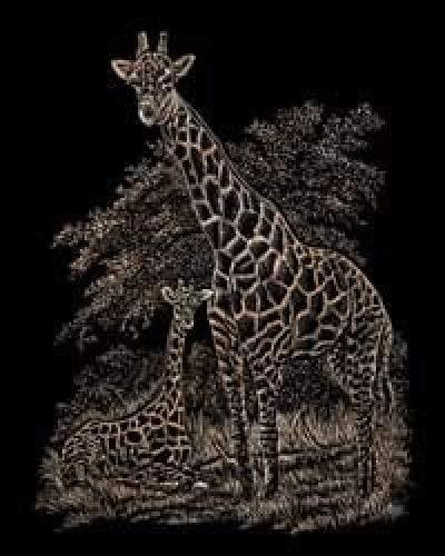 Bulk Buy: Royal Brush Copper Foil Engraving Art Kit 8X10 Giraffe & Baby COPF-16 (3-Pack) Royal Brush Manufacturing Inc.