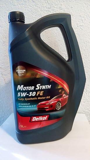 MARYANPARTS Aceite Sintetico 5W-30 5 litros Motor Gasolina Y Diesel: Amazon.es: Coche y moto