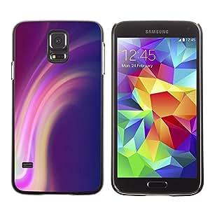 Be Good Phone Accessory // Dura Cáscara cubierta Protectora Caso Carcasa Funda de Protección para Samsung Galaxy S5 SM-G900 // Lines Purple Pink Yellow