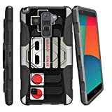 MINITURTLE Case Compatible w/ LG Stylo 2 Case, LG Stylus 2, LG G Stylo 2 Case [Armor Reloaded] Rugged Impact Protector + Clip Holster and Stand Heavy Duty Game Controller Retro