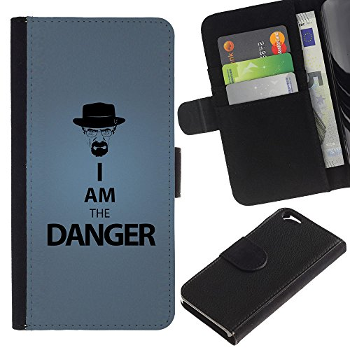 LeCase - Apple Iphone 6 4.7 - Funny I Am The Danger - Cuir PU Portefeuille Coverture Shell Armure Coque Coq Cas Etui Housse Case Cover Wallet Credit Card