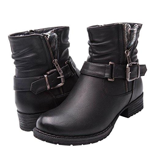 Low Womens Boots (GLOBALWIN Women's KadiMaya1605-1 Boots 9.5M)