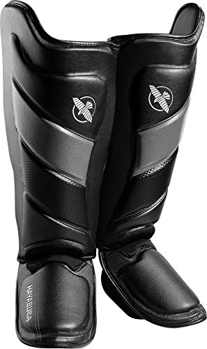 Hayabusa Shin Guards | T3 Muay Thai and Kickboxing | Men and Women | Black/Grey | Medium