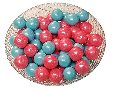 Gender Reveal Gumballs Shimmer Pearl Pink And Blue Bubble Gum 2 Pounds 1 inch Gumballs-KOSHER ()