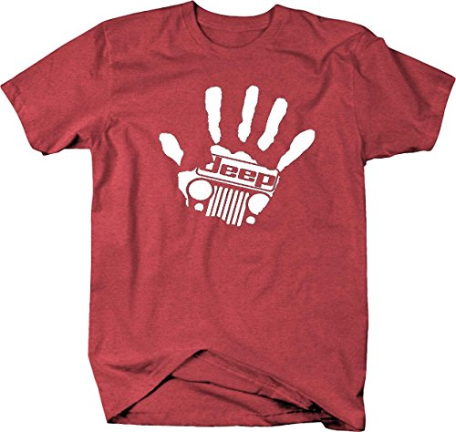 Jeep Wave Hand Grill Wrangler club handprint Mens T Shirt - Xlarge