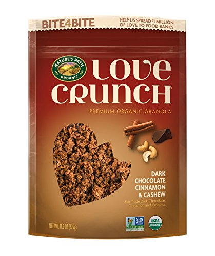Crunch Granola Cinnamon (Nature's Path Organic Love Crunch Premium Granola, Chocolate Cinnamon & Cashew, 6 Count)