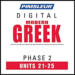 Greek (Modern) Phase 2, Unit 21-25