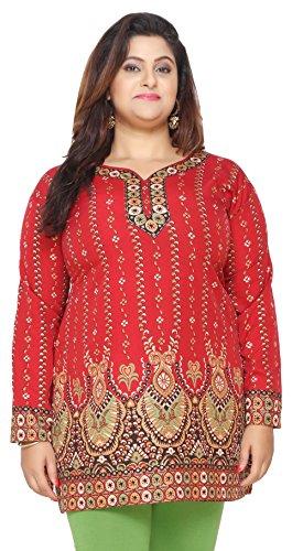 Women's Plus Size Indian Kurtis Tunic Top Printed India Clothing