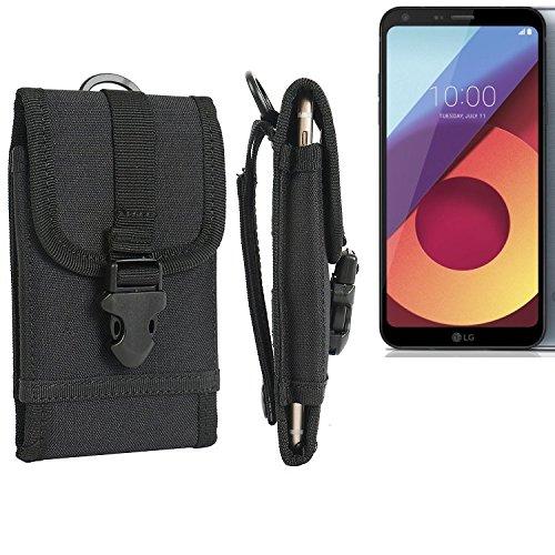 bolsa del cinturón / funda para LG Electronics Q6, negro   caja del teléfono cubierta protectora bolso - K-S-Trade (TM)