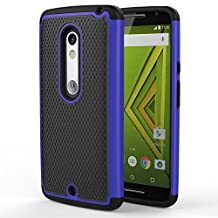 Motorola Moto X Play / DROID Maxx 2 Case, MoKo [Shock Absorption] Slim Dual Layer Protective Case with Soft Silicone Bumper and Rigid PC Back Cover for Motorola Droid Maxx 2 / Moto X Play - Indigo